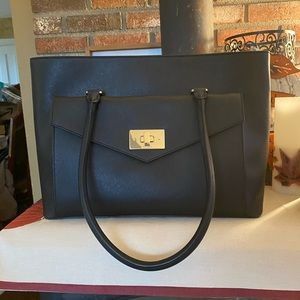 NWT Kate Spade Black Leather Halsey Large Tote
